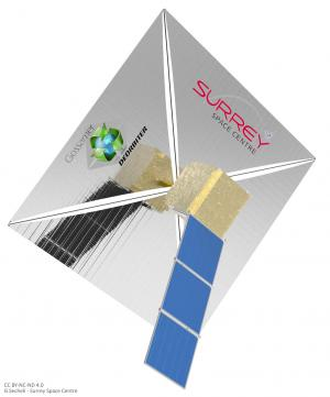Cleaning up space debris with sailing satellites