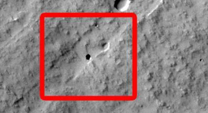 Martian pit feature