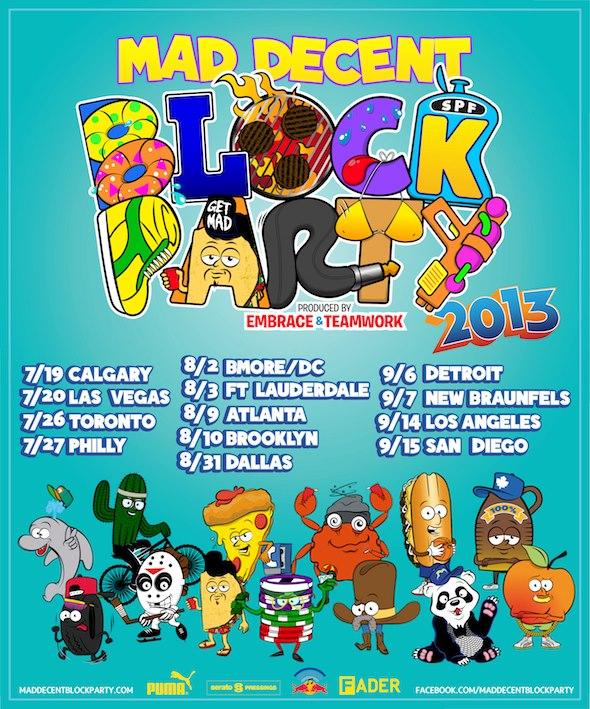 mdbp announcement Mad Decent Block Party Expands to 13 Cities for 2013