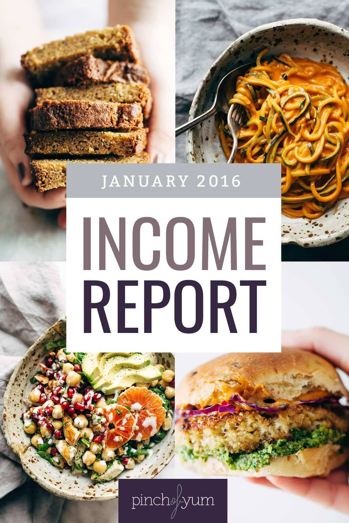 January Traffic and Income Report | pinchofyum.com