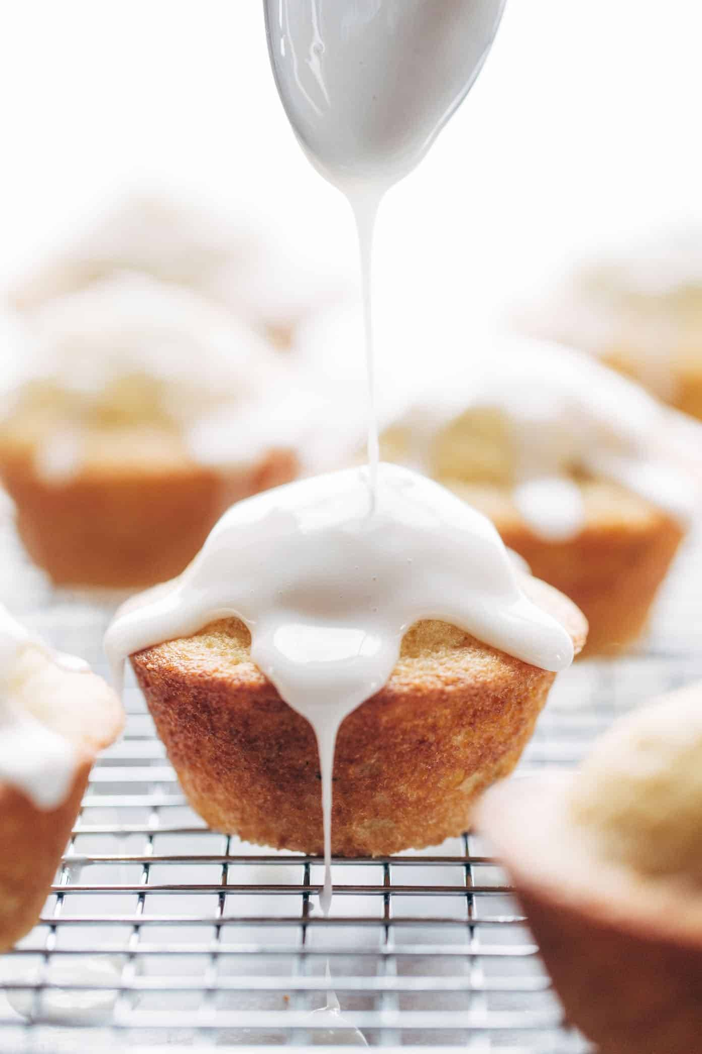 Lemon Lavender Muffins ♡ springy and light, muffin meets spa. perfect for Mother's Day brunch!   pinchofyum.com