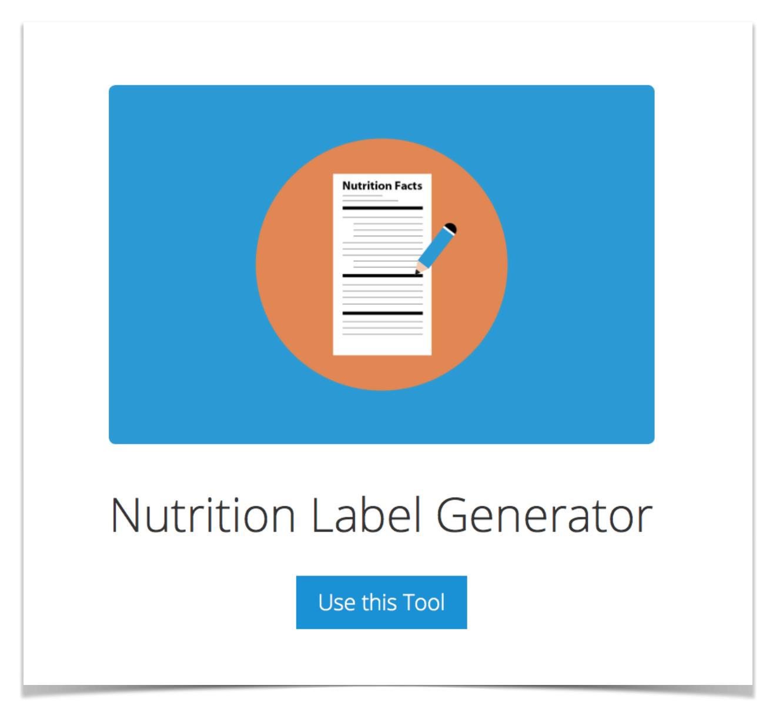 Nutrition-Label-Generator