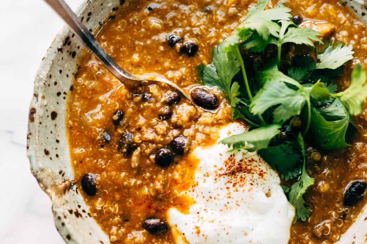 Sweet Potato Turkey Chili | pinchofyum.com