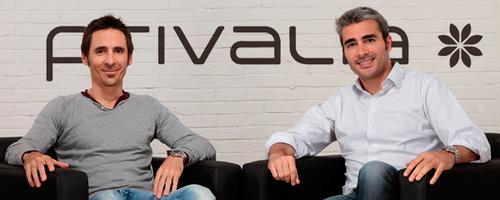 outlet de moda online, Privalia, Grupo Vente-Prive, Lucas Carné , José Manuel Villanueva, cofundadores de Privalia,