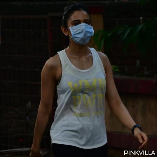 PHOTOS: Rakul Preet Singh continues her fitness regime & steps out for a brisk walk amidst Unlock 1.0