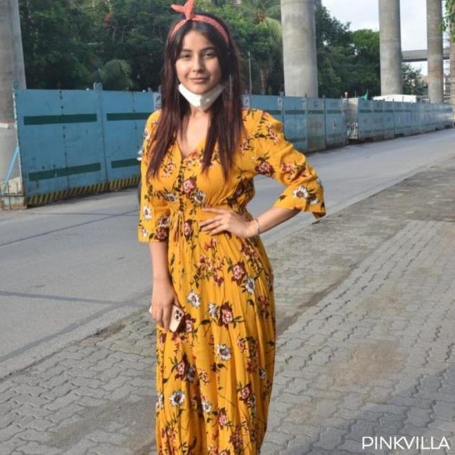PHOTOS: Shehnaaz Gill looks stunning in a yellow summer dress as she steps out for a meeting amid lockdown