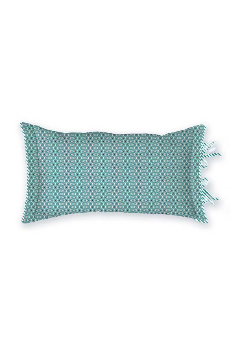 cushion rectangle petites fleurs blue