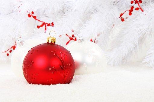 Weihnachtskugel, Rot, Kugel, Feier