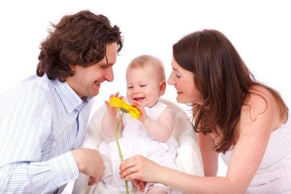 赤ちゃん, 白人, 子, 娘, 家族, 父, 女の子, 幸せ, 分離, 愛, 男, 母, 親, 人, 肖像画
