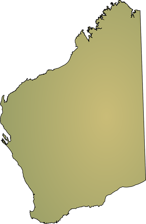 Western Australia Map      Free vector graphic on Pixabay western australia map australia state