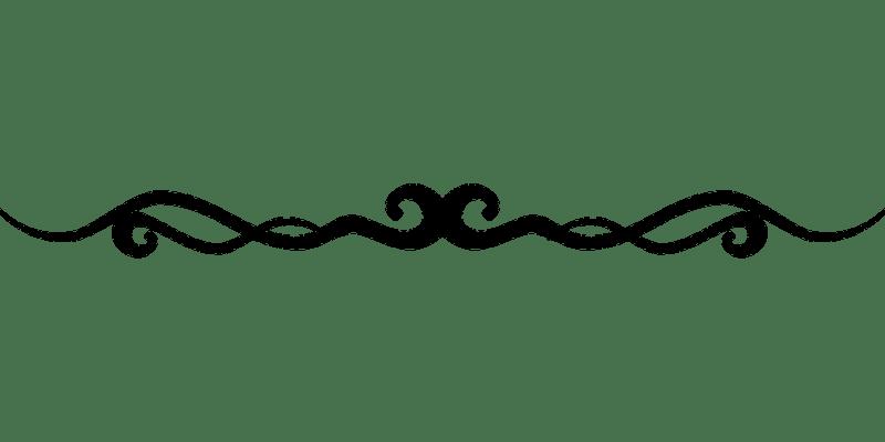Flourish Line Border Decoration Swirl Accent