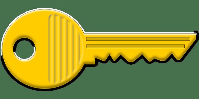 Kostenlose Vektorgrafik: Schlüssel, Gelb, Metall, Symbol