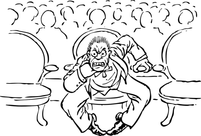 Angry, Man, Seated, Audience, Member, Irate, Anger