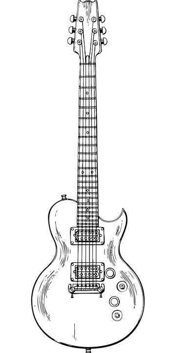 Guitar Outside Lines Templates Png