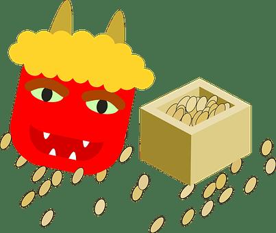 悪魔, マスク, サタン, ロースト, 豆, 節分, 祭り, 日本