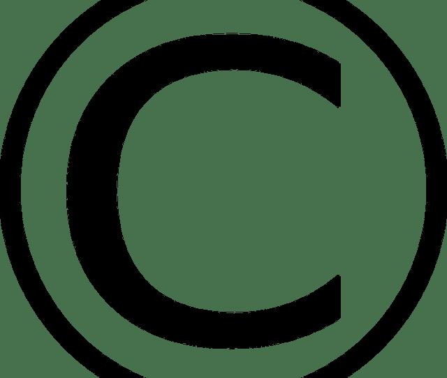 Copyright Circle C Symbols Sign Protection