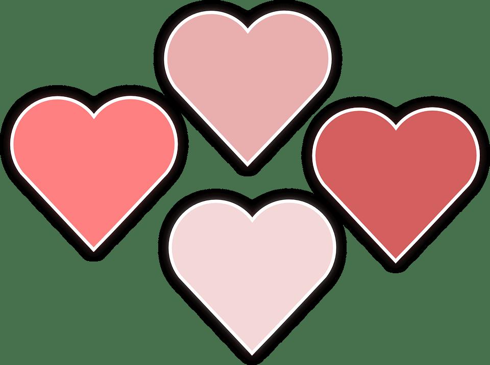 Free Vector Graphic Heart February Romantic Romance