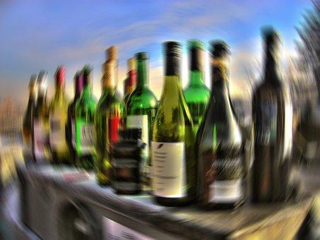 Alcohol, Drink, Alkolismus, Bottles