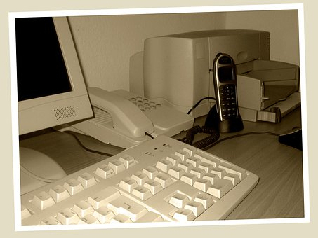 Vergangenheit, Alt, Computer, Drucker