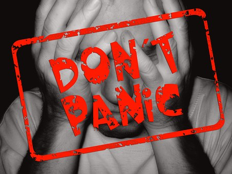 Man Face Stamp Panic Fear Anxiety Exciteme