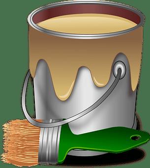 Paint, Color, Brush, Painter, Bucket