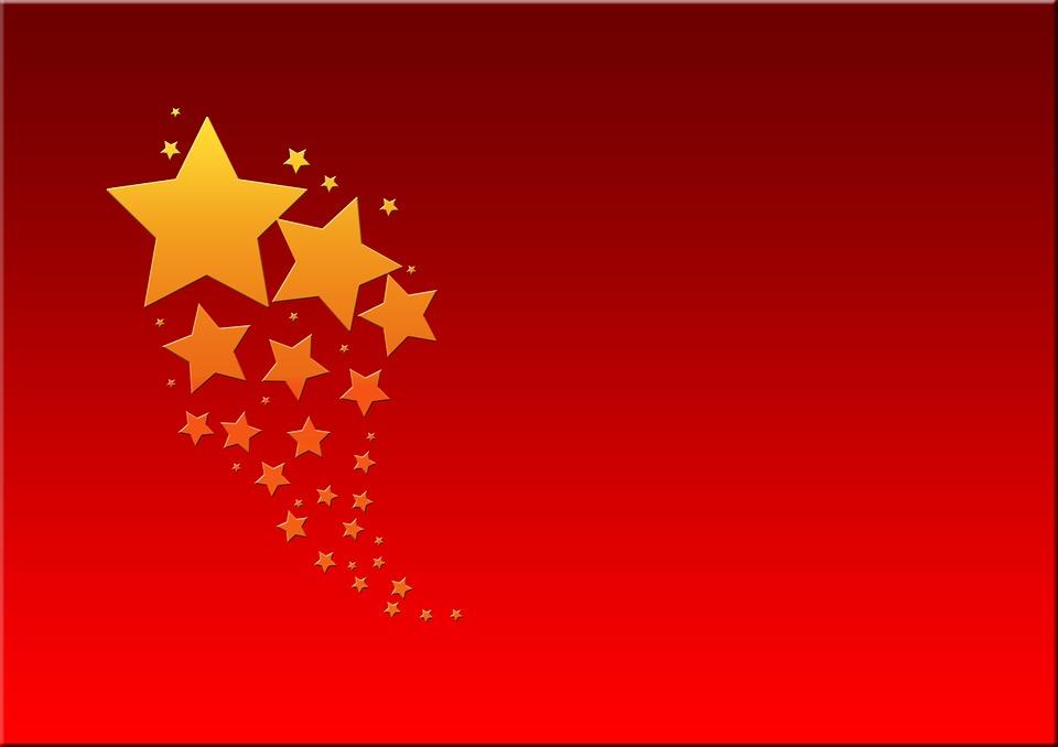 Illustration Gratuite Nol Star Carte De Voeux Rouge