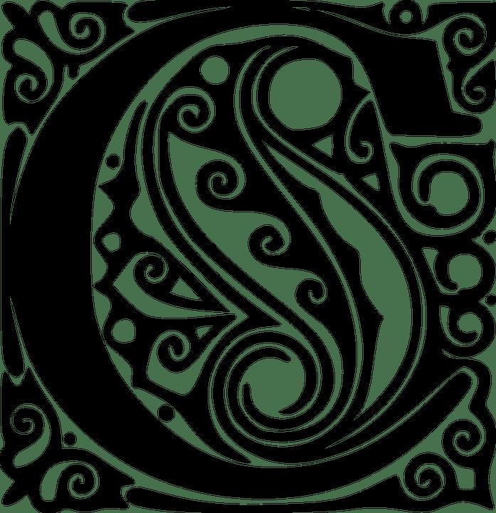 Kostenlose Vektorgrafik Alphabet Kalligraphie Schriften