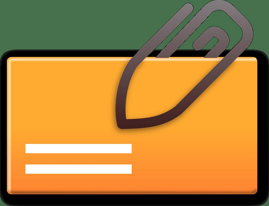 Free Vector Graphic Attachment Mail Attachment Card