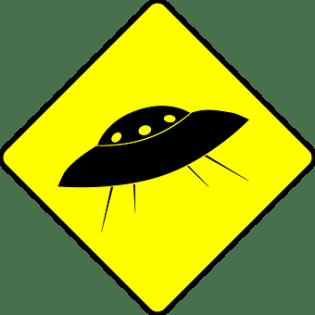 Ufo, Humor, Flying Saucer, Road Sign