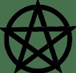 Pentagram, Black, Magic, Pagan, Pentacle