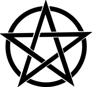 Pentagram, Black, Magic, Pagan, Pentacle