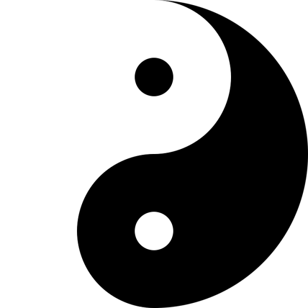 Free vector graphic Yin And Yang Harmony Black White
