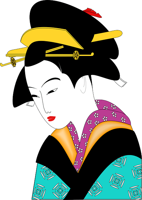 Free Vector Graphic Kimono Geisha Woman Asian Free