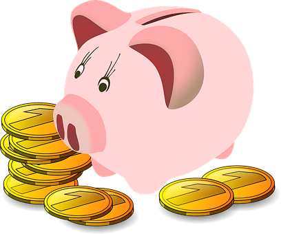 Savings Box, Pig, Piggy Bank, Money