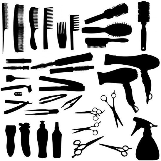 Hairdryer, Hairbrush, Brush, Comb, Hair, Tweezers