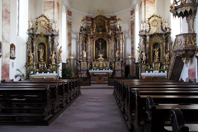 Kostenloses Foto Altar Barock Kirchenschiff