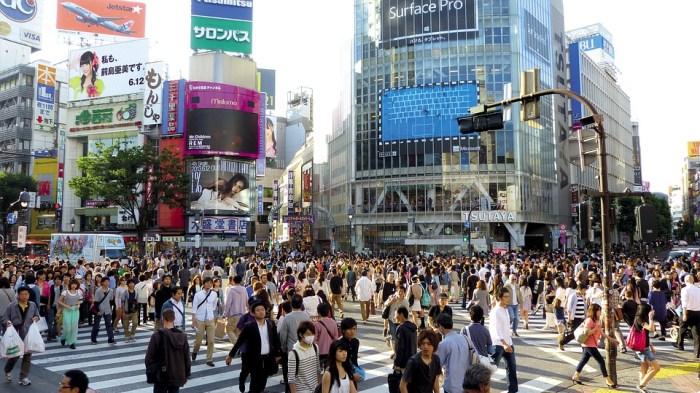 Japon, Tokyo, Shibuya, Japonais, Bâtiment, Foule