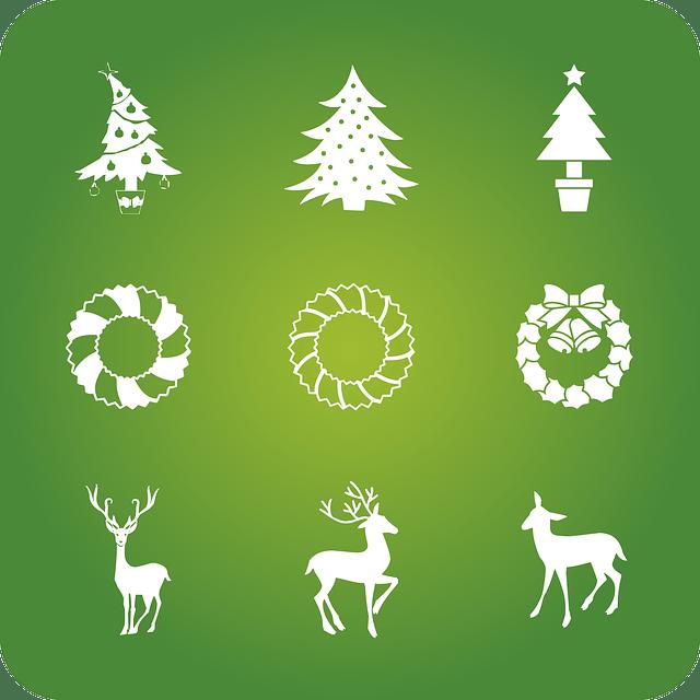 Christmas Holidays Icons Free Vector Graphic On Pixabay