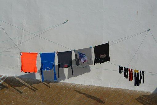 洗濯, カラフル, 服のライン, 市, 依存, 衣料品, 洗う, 綱, ドレス