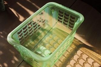 Laundry Basket, Basket, Plastic, Green