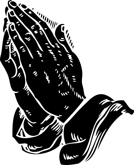 Free Vector Graphic Praying Hands Religion Halo Free
