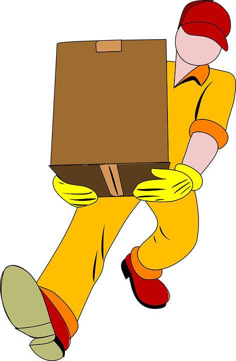 Free Vector Graphic Man Carrying Box Moving Smaller