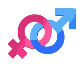 Symbole égalité femmes hommes pour article sur la vasectomie