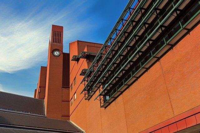 British Library, London, England, Sky