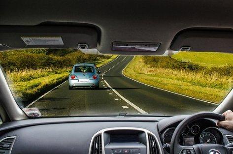 Car, Driving, Road, Dashboard, Wheel