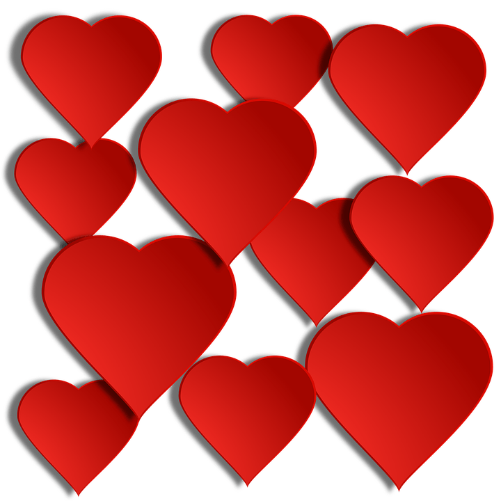 Free Illustration Red Heart Translucent Shadow Free