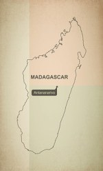 Outline, Map, Madagascar, Geography