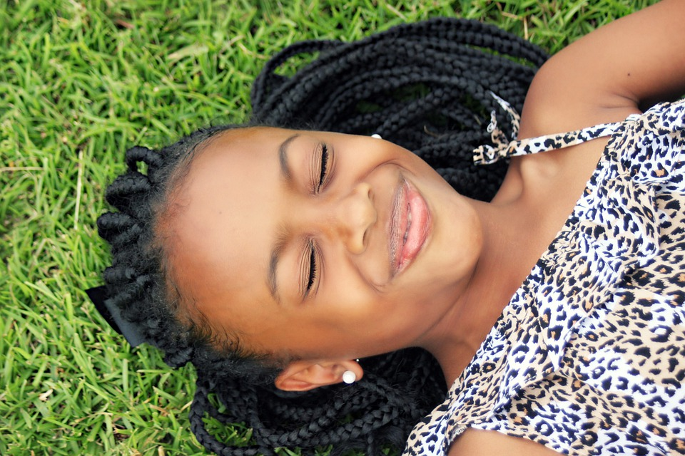 Girl Face African Laying Free Photo On Pixabay