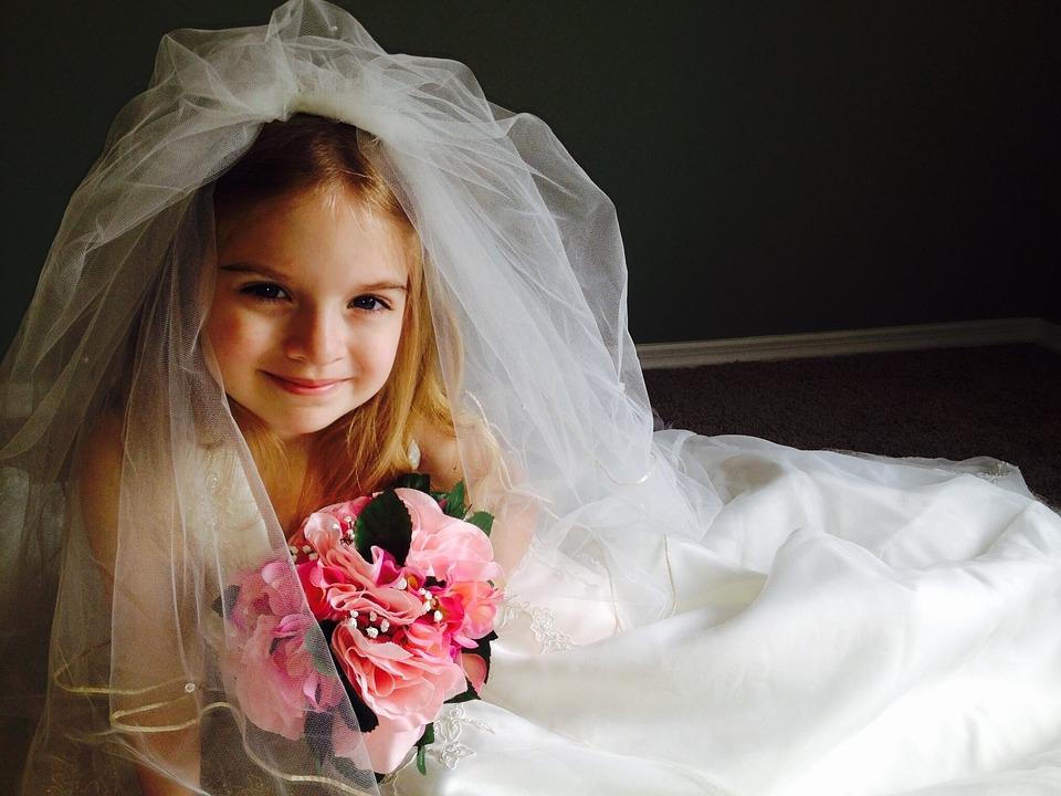 Free Photo: Wedding Dress, Child, Girl