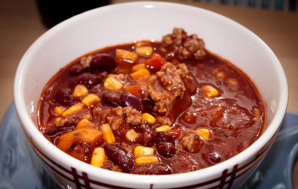 Chili Con Carne, Chili, Cook, Lunch, Delicacies